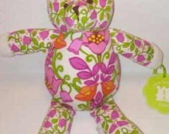 "Vera Bradley Baby Lilli Bell 10"" Bear Retired Pattern"