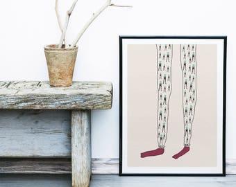 Poster | Illustrated Poster | Wall Decor | Minimal Print Poster | Home Decor | Poster Design | Postcard