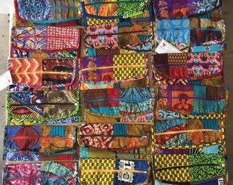 Velcro Pouches - African Ankara