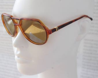 Yves Saint Laurent Aviator Tortoiseshell / Collectible Rare Original YSL sunglasses Shades / Luxury Horn-rimmed Lunettes / Gift for her him