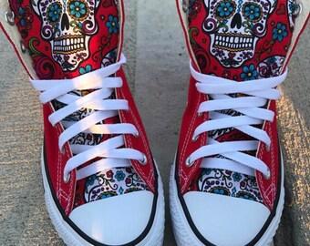 Sugarskull Converse Chuck Taylor Shoes