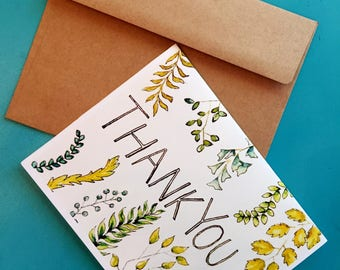 Thank You (Card) // Ferns // Thanks // Stationary