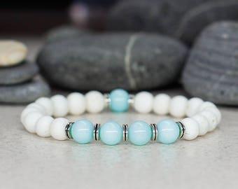 Dainty bracelet Women bracelet-for-mom-to-be gift Coral bracelet Amazonite bracelet Healing crystal jewelry Elegant bracelet Stone bracelet