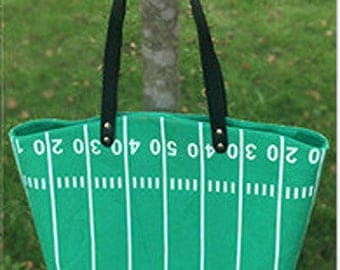 Personalized Football Field Tote Bag, Embroidered Football Field Tote, Monogrammed Football Field Tote Bag, Football bag
