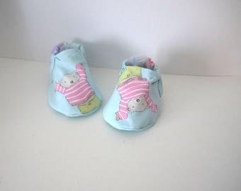 Slippers shoes fabric cotton 3 month baby bear