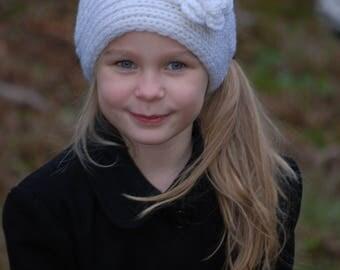 White Ear Warmer - Winter headband - crochet ear warmer - ear warmer - knit headwrap - knit ear warmer - headband - Christmas Gift Teen Girl