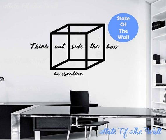 Think Outside The Box Wall Decal Design Mural Interior