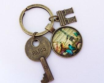 PARIS Keychain Paris Keyring Paris Gift France Keychain France Gift Paris Key Triumphal Arch Gift Eiffel Tower Keychain Eiffel Tower Gift