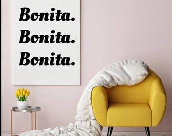 Printable Art, A Tribe Called Quest, ATCQ, Bonita Applebum, Bonita Bonita Bonita, 90s Rap, Hip Hop Art