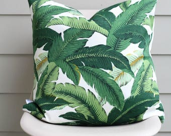 "22"" x 22"" Banana Leaf Pillow Cover - Tommy Bahama Fabric, COVER ONLY"