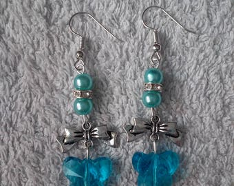 Earring Butterfly (butterfly blue)