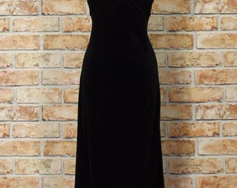 Vintage Dress Gown 90s Retro Victorian Style Evening Wedding Party Sexy UK 8/10...US 4/6