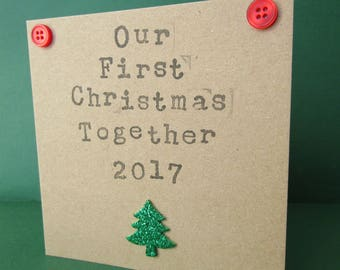 First Christmas Together Card, Our First Christmas, Couples Christmas Card, 2017 Christmas Card