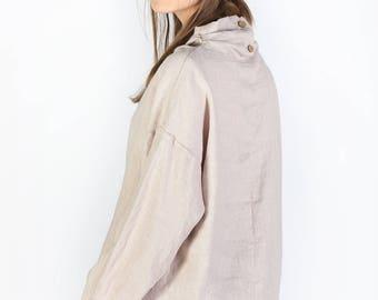 Linen blouse / Washed linen blouse / Natural linen womens clothing / Boho blouse / Linen Oversize Top / Linen Tank / Linen Shirt 3/4 sleeves