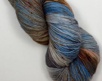 Indie dyed sock yarn, superwash BFL & nylon, 464 yards / 100 grams.  Hand dyed for your knitting, crochet or weaving project.