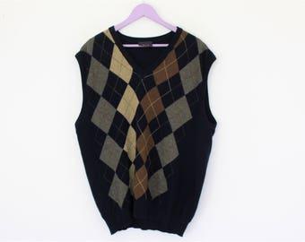 Golf sweater vest | Etsy