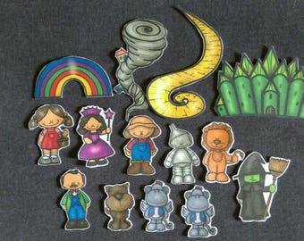 Wizard of Oz Felt Set // Flannel Board // Felt Board //  Pretend Play // Wizard of Oz