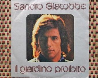 Sandro Giacobbe, Il Giardino Proibito, CBS Records, Italy 1975, 45rpm Euro Pop Music