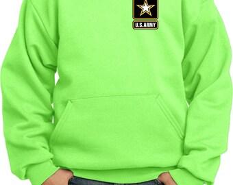 Kid's US Army Pocket Print Hoody 21439E9-PC90YH