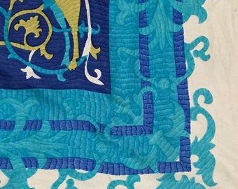 Vintage Pierre Cardin Pure Silk Scarf hand rolled trim from Japan