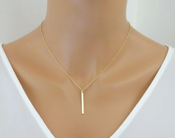 Name initial necklace, Slim Bar Necklace personalized Monogram Necklace bridesmaid personalized necklace gift, layered necklace