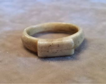 Civil War Bone Carved Ring