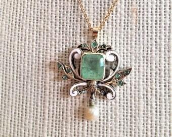 Beryl Emerald Necklace
