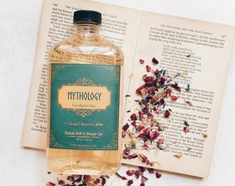Mythology Body Wash/Shower Gel/Bubble Bath - Eucalyptus Tea Literary Gift