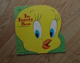 1976 The Tweety Book A Golden Super Shape Book