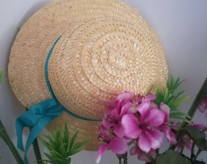 Straw hats for children, made in Portugal, English handmade hat