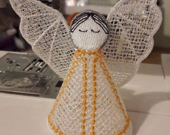 Machine Embroidery Design - 3d FSL Angel