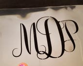 Monogram stencil, DIY stencil, script font, custom monogram stencil, wall art stencil, make your own art supplies, custom initials art