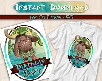 DIGITAL FILE Maui Iron On Transfer, Maui Birthday Girl, Maui birthday shirt, Maui Tshirt Transfer, Maui iron on