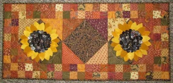 Wool U0026 Cotton Sunflower Table Runner