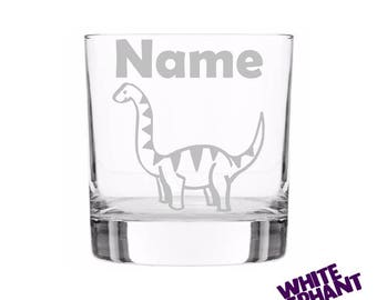 Etched Dinosaur Whiskey/Highball/Pint Glass