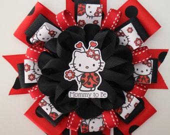 Hello Kitty LadyBug Inspired Baby Shower Corsage Set