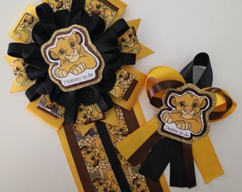 Simba Animal Print Lion King Baby Shower Mommy to Be Corsage