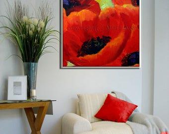 Living Room Wall Art Modern Art Print Kitchen Wall Art Colorful Art Colorful Wall Art Modern Wall Art Flower Canvas Art Kitchen canvas art
