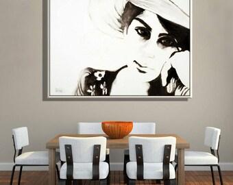 Original Oil Painting, Portrait Art, Figure Painting Portrait, Contemporary Art, Modern Art Oil Paintings, Oil on Canvas Portrait Painting