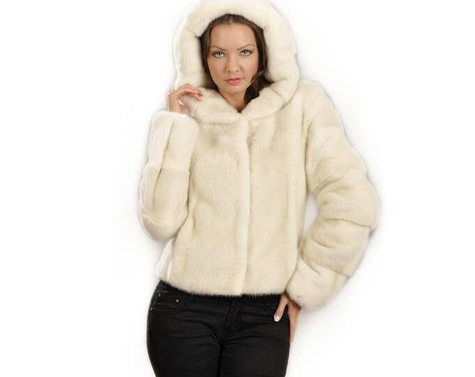 Real Mink Fur Pearl, Real fur jacket,fur mink F827