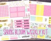 Spring Bloom Weekly Planner Sticker kit for Classic Happy Planner