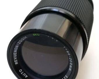 Vintage Auto Revuenon-Zoom f4,5 80-200mm Lens for Pentax K-Mount SLR Cameras