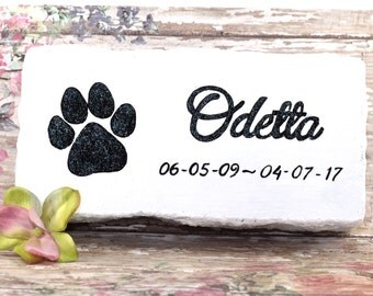 Pet memorial head stone grave marker, head stone for pets, pet grave marker, pet head stone, memorial stone dog, several colors choices