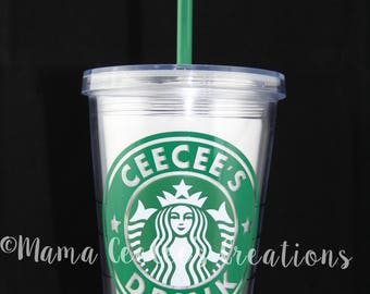 AUTHENTIC Clear Acrylic Reusable & Personalized Starbucks Cup by Mama CeeCee's