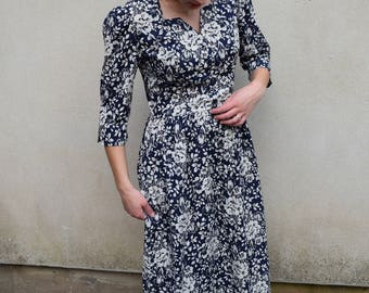 Vintage Laura Ashley floral print dress, 1990s