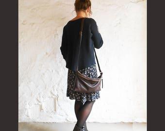 completely Handmade Leather shoulder bag