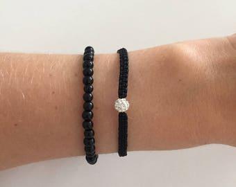 Bracelet set with some sparkly details!