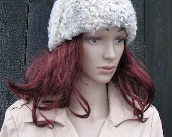 Vintage KARAKUL HAT Persian gray lamb CAP astrakhan women winter hat