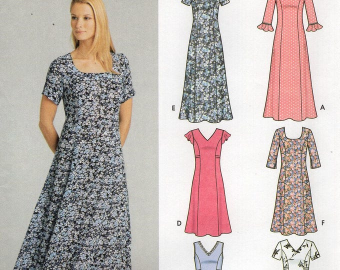 Free Us Ship Simplicity 5189 Sewing Pattern 6 Made Easy Princess Seams Dress 8/14 Size 8 10 12 14 Bust 31.5 32.5 34 36  Uncut New
