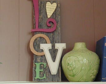 Barn wood wall art LOVE